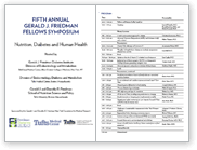 5th Annual Fellows Symposium Brochure